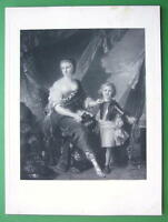 MADEMOISELLE de Lambesc as Minerva - SUPERB Antique Print