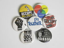 "OCCUPY WALL STREET 1.25"" buttons badge pinkback  NYC CHICAGO OAKLAND LA SEATTLE"