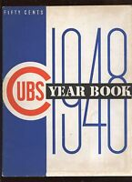1948 Chicago Cubs MLB Baseball Yearbook EX