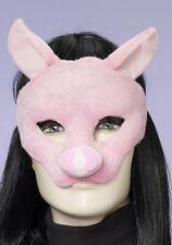Pig Mask Soft Plush Pink Halloween Costume Face Childs Boys Girls Adult One Size