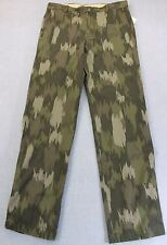 IZOD Mens DESERT GREEN MILITARY CAMO CAMOUFLAGE CHINO PANTS NWT 32 x 34  $64
