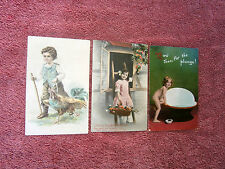 THREE  YOUNG  CHILDREN  ON   POSTCARDS      {94}