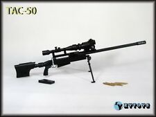 """ZY TOYS 1/6 Scale US TAC-50 Sniper Rifle Black Fit for 12"""" action figure"""