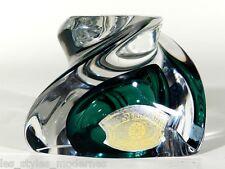 Val St.LAMBERT Belgien Kristallglas Leuchter ° signierter Glas Kerzenhalter