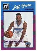 2016-17 Donruss Basketball Press Proof Purple /199 #68 Jeff Green Magic