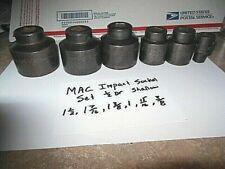 Mac Tools Usa 8 Piece Impact Socket Set 12 Dr 38 1 12 6 Point Vp Series
