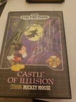 Castle of Illusion Mickey Mouse  (Sega Genesis) Cartridge Manual Case - Tested