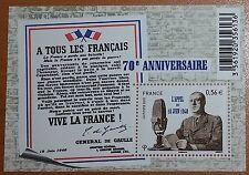70° anniversaire de l'appel du 18 juin 1940 du Général de Gaulle