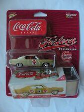 Johnny Lighting Coca Cola 2003 Festoon 1970 AMC Rebel machine w/tin container