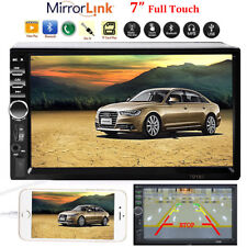"Car Stereo Radio Bluetooth Audio Receiver Double 2 Din 7"" Touch Screen USB AUX"