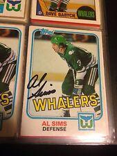 Al Sims Autograph Hockey Card