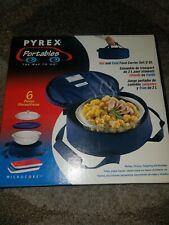 Vintage Pyrex Portables 2 Qt Casserole Bowl With Lids. Microcore case. NEW RARE