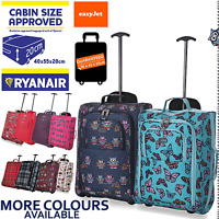 Lightweight Hand Luggage Bag Baggage Wheeled Cabin Approved Ryanair New Prints