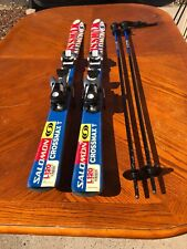 New listing Used Salomon Crossmax T L120 Cm /305 Salomon Bindings Youth Ski Package Nice!