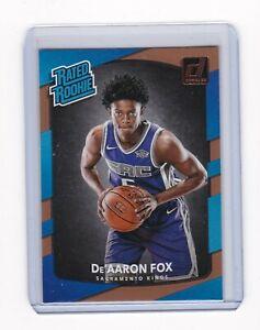 2017-18 NBA Donruss RATED ROOKIE Card - DeAaron Fox #196 Kings