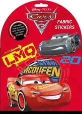 Disney Pixar Cars 3 - 12 Fabric Stickers - Customise Clothing - Single Use Age 3