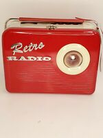 RETRO RADIO (Red) The Silver Crane Company Limited Edition Tin Lunch Box