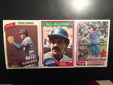1980, 1981, 1982, 1983, 1984 Topps - Fill your Set - Pick 35