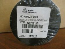 NEW LOT OF 45 PAXAR 12077615G Hi Speed Wax Ribbon 46mm x 600M Monarch 9800 NEW