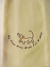 Embroidered Tea Towel, Hand Towel, Dish Towel. 100 % Cotton. with Hanging Strap.