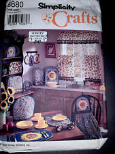 SIMPLICITY CRAFTS 8880 Home Kitchen Decor pattern UNUSED Uncut
