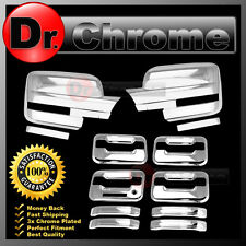 09-14 Ford F150 Chrome Mirror+4 Door Handle+keypad+no PSG keyhole Cover COMBO