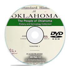 Oklahoma OK People, Family History, Genealogy, 100 Books DVD CD H39