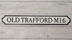 Old Trafford M16 Man United Metal Plaque/Sign Street Sign