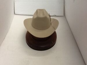Stetson Cowboy Hat 6X Beaver Fur Silverbelly RANGE With Free Hat Brush+