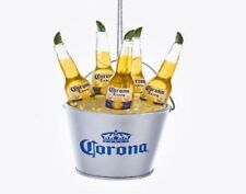 "New Kurt Adler 3.75"" Corona Bottles In Ice Bucket Ornament"