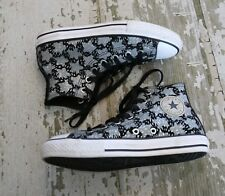 Converse Chuck Taylor All Star Hi Top Black Gray Canvas Shoes Size US 3 EUR 35