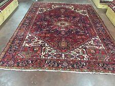 "Sale Great Hand Knotted Persian-Tabriz-Heriz Rug Geometric Carpet 9x12,8'6""x11'7"
