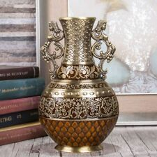 Antique Flower Vase 25cm Vintage Metal Luxury Tabletop Art Craft Home Decoration