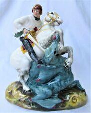 Vintage Royal Doulton Figurine St George on horse slaying dragon Hn2051 1949
