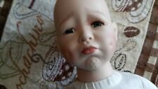 """New listing Vintage Porcelain """"Pouty"""" Doll With Soft Body To Dress"""