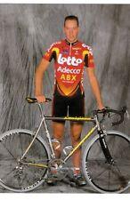 CYCLISME carte cycliste KEVIN VAN IMPE équipe LOTTO ADECCO ABX 2002