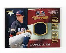 ba1e7f5fab7 2013 Panini USA Baseball Champions Game Gear Marco Gonzales Jersey Card  NM-MT