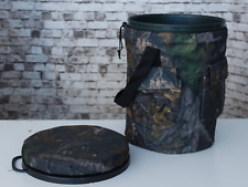 Padded Spinning/Swivel Hunting Shooting Camo Bucket Seat With Storage Pockets