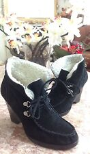 MICHAEL MICHAEL KORS Womens Black Suede Lace Up Ankle Wedge Boots US 61/2 M EUC!