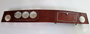Very cool new Classic Rover Mini Cooper dashboard 3 clock LHD Brown Leather