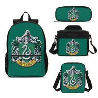 HARRY POTTER Backpack School Student Bag Bookbag 3pcs Lunch Bag Set Lot Kid Gift