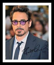 ROBERT DOWNEY JR AUTOGRAPHED SIGNED & FRAMED PP POSTER PHOTO