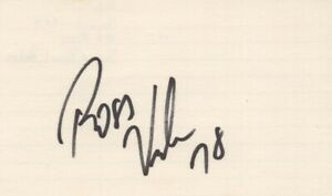 Ross Verba - NFL Football Player, Green Bay Packers - Autographed 3x5 Card