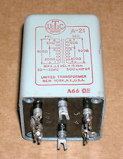 1966 UTC A-21 audio input/output transformer DIY mic-pre ~ OUTSTANDING CONDITION
