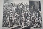 GRAVURE SUR CUIVRE TRIOMPHE DE DAVID-BIBLE 1670 LEMAISTRE DE SACY (B85)