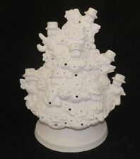 Christmas SNOWMAN Christmas Tree with Lights  *Ceramic Bisque Ready to Paint