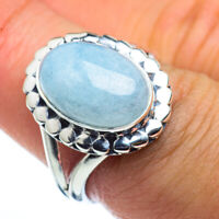 Aquamarine 925 Sterling Silver Ring Size 7.75 Ana Co Jewelry R44578F