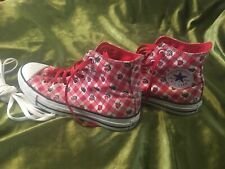 GEORGUS LIMITED EDITION CONVERSE PINK CHERRY/STRAWBERRIES HIGH TOPS UK SIZE 6