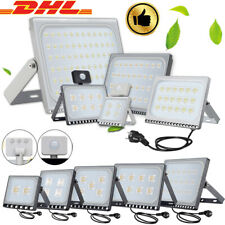 LED Fluter 100W 50W 30W 10W 500W 300W mit Bewegungsmelder/Stecker Scheinwerfer