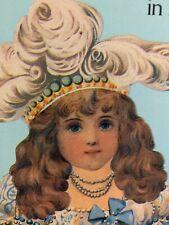 Raphael Tuck Antique Paper Dolls in Full Color Book Vintage 80's